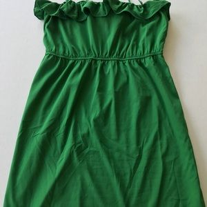 Old Navy Kelly Green Ruffle Dress Size Large